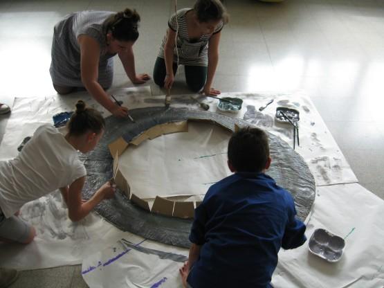 Anelli Saturno in costruzione